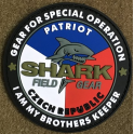 Shark Patriot - 3D gumový patch